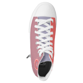 """Coral Mandala"" Hi Tops Kicks: choose size Printed Shoes"