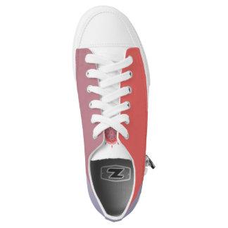 """Coral Mandala"" Low Tops: : choose size Printed Shoes"