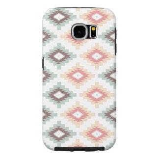Coral & Mint Aztec Phone Case