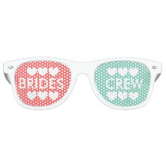 Coral mint brides crew bachelorette party shades