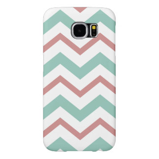 Coral & Mint Chevron Samsung Galaxy S6 Case