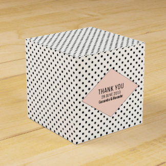 Coral Modern Polka Dots Wedding Favour Box