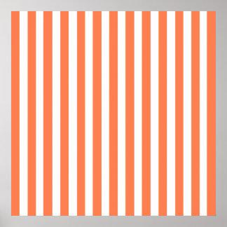 Coral Modern Stripes Poster