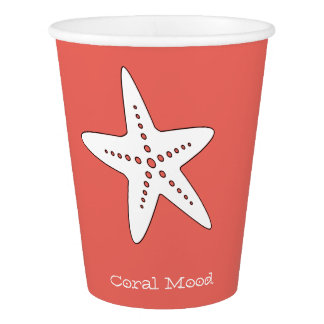 Coral Mood Starfish Paper Cup