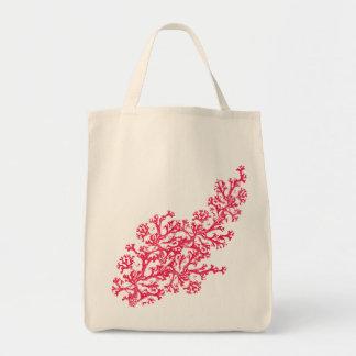 Coral Motif Tote Bag