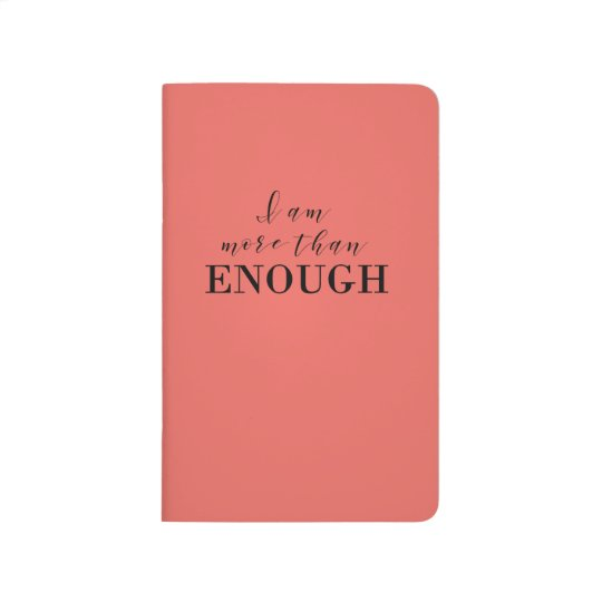 Coral Notebook with motivational quote Journals