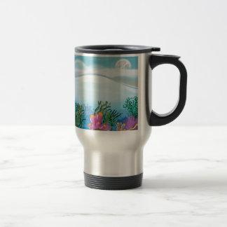 Coral Ocean Stainless Steel Travel Mug