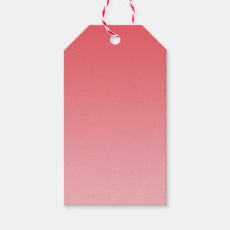Coral Ombre Gift Tags