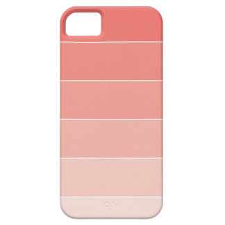 Coral Ombré Stripes iPhone 5 Cases
