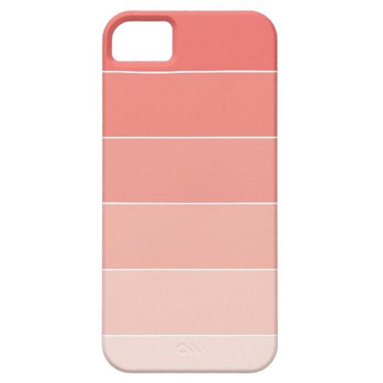 Coral Ombré Stripes iPhone 5 Cases