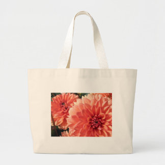 Coral Orange Dahlia Tote Bag