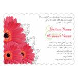 Coral & Orange Gerber Daisy Wedding Invitation 13 Cm X 18 Cm Invitation Card