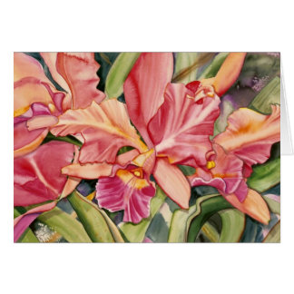 coral orchid note card 2.95