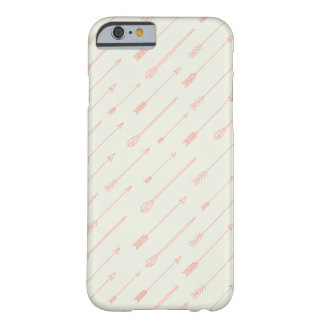 Coral Outlined Arrows Pattern Barely There iPhone 6 Case