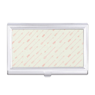 Coral Outlined Arrows Pattern Business Card Holder