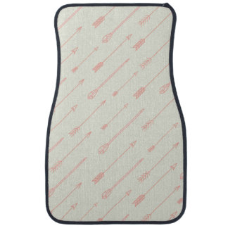 Coral Outlined Arrows Pattern Car Mat