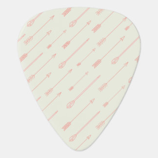 Coral Outlined Arrows Pattern Guitar Pick