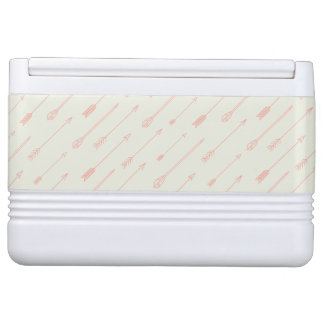 Coral Outlined Arrows Pattern Igloo Cooler