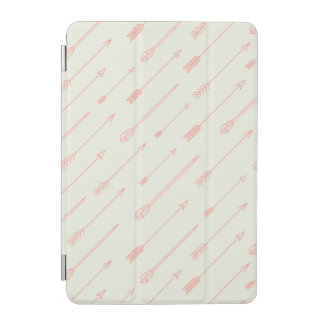 Coral Outlined Arrows Pattern iPad Mini Cover