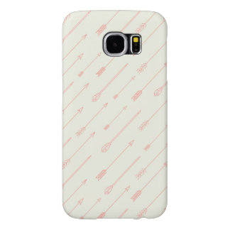 Coral Outlined Arrows Pattern Samsung Galaxy S6 Cases