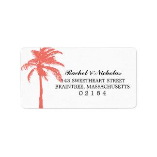 Coral Palm Tree | Address Address Label