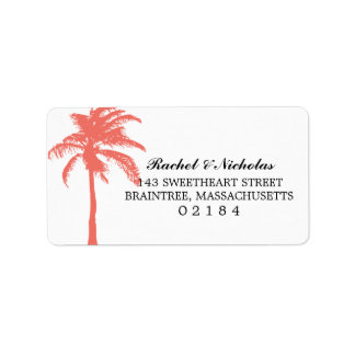 Coral Palm Tree | Address Label