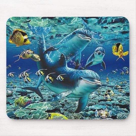 coral_pals_dolphins_1B, Roll All Over me Mouse Mat