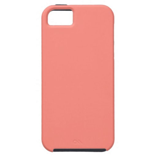 Coral Peach Background. Fashion Color Trend. Chic iPhone 5 Case