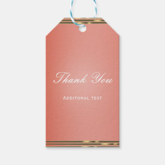 Coral Peach Dipped & Gold Chic Elegant Party Favor