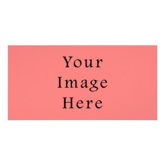 Coral Peach Pink Color Trend Blank Template Picture Card