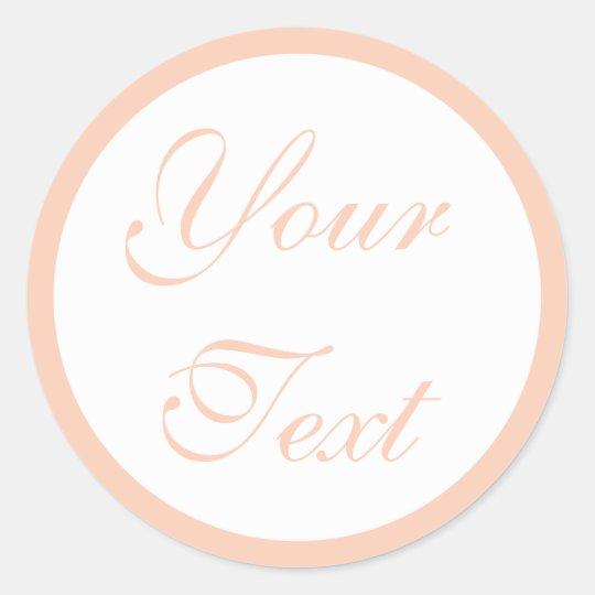 Coral/Peach Wedding Envelope Seals w/ Custom Text Round
