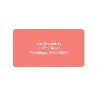 Coral Pink Address Label