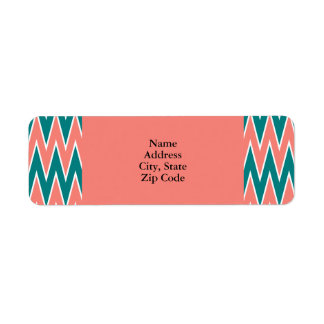 Coral Pink and Teal Zigzag Pattern