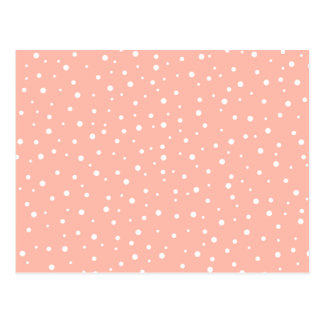 Coral Pink and White Spotted Pattern. Postcards
