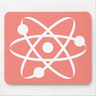 Coral Pink Atom Mouse Pad