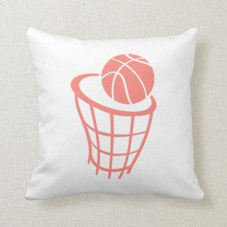 Coral Pink Basketball Cushion