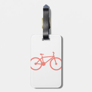 Coral Pink Bicycle Luggage Tag