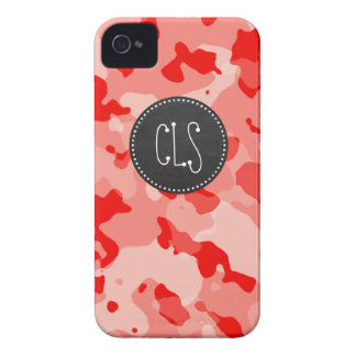Coral Pink Camo; Camouflage; Retro Chalkboard iPhone 4 Case-Mate Case