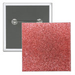 Coral pink glitter button