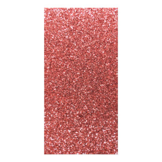 Coral pink glitter picture card