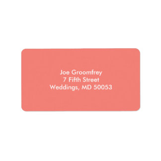 Coral Pink Label