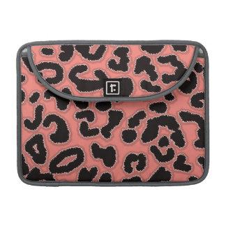 Coral Pink Leopard Animal Print MacBook Pro Sleeve