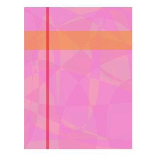 Coral Pink Marble Minimalism Post Card