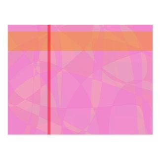 Coral Pink Marble Minimalism Postcard