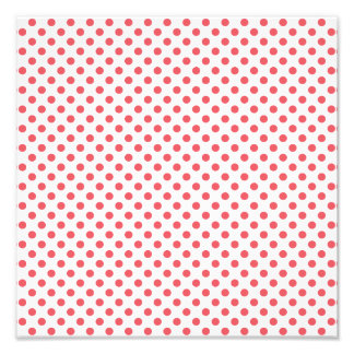 Coral Pink Polka Dots Art Photo