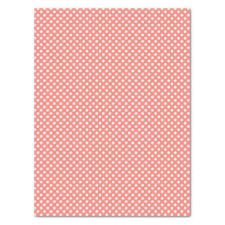 Coral Pink Polka Dotted Pattern Tissue Paper