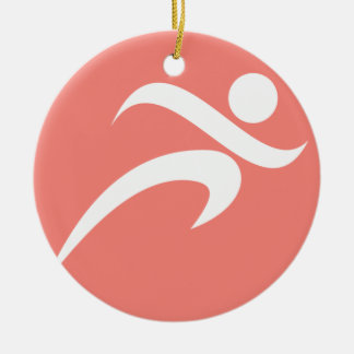 Coral Pink Running Christmas Ornament