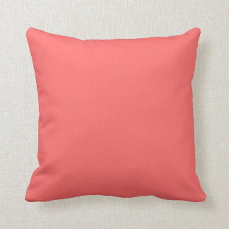 Coral Pink Solid Accent Pillows