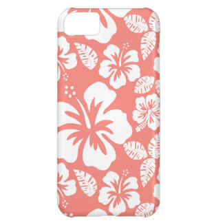 Coral Pink Tropical Hibiscus iPhone 5C Covers