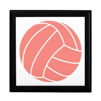 Coral Pink Volleyball Keepsake Boxes